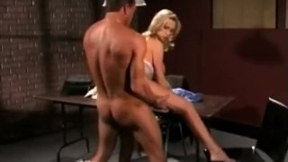 Screen Capture of Video Titled: Super Sexy Blonde Sucking Cock, Fucking, and a cumshot