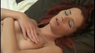 Screen Capture of Video Titled: DaneJones Redhead gets so wet masturbating