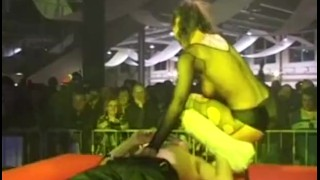 Screen Capture of Video Titled: sex show on stage