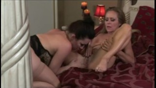 Screen Capture of Video Titled: RayVeness and Dyanna Lauren are MILF Lesbos!