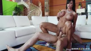Slutty big-boobed MILF Jewels Jade fucks her daughter's boyfriend