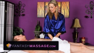Screen Capture of Video Titled: Bailey Blue Gives a Happy Ending Massage
