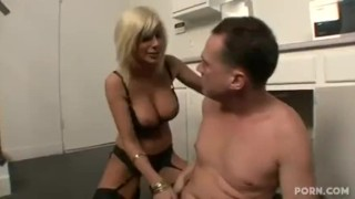 Screen Capture of Video Titled: Cougar and lucky plumber