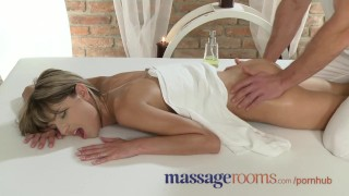 Screen Capture of Video Titled: Massage Roomsteen has deep intense orgasm