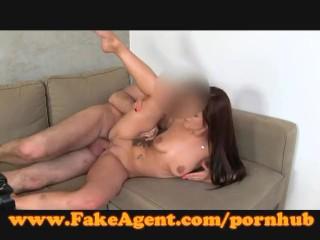 FakeAgent Cute amateur wants porn career