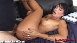 Screen Capture of Video Titled: This hot MILF gets her pussy pounded the gets a hot sticky load of cum all