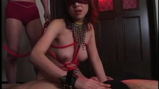 Japanese Submissive Sex Slave Tied In Rope And Fucked By MaleDom