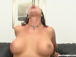 Horny MILF Gobbles Cock Like A Pro