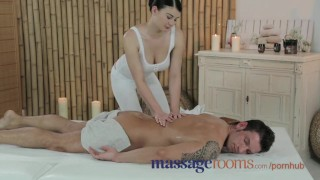 Screen Capture of Video Titled: Massage Rooms Young beauty with massive tits get fucked hard by big cock