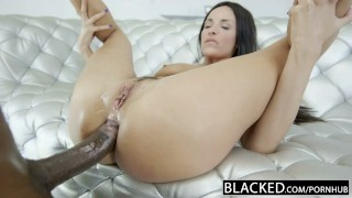 Screen Capture of Video Titled: BLACKED French Girl Hot Interracial Anal sex