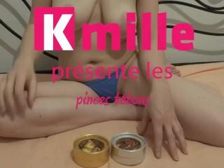 Kmille aime les pinces tétons