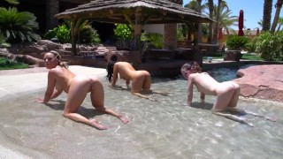 Screen Capture of Video Titled: Naked Pornstar Yoga with Alexis Monroe