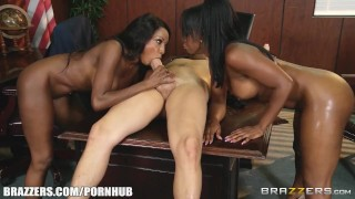 Dirty office threesome - Brazzers