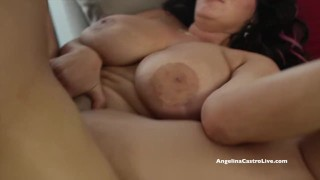 Screen Capture of Video Titled: Big Titted Angelina Castro Desperate for Spanish Cock!