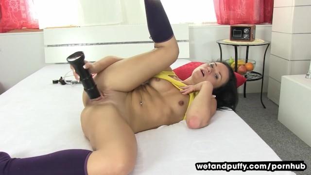 Horny Teen Riding Dildo