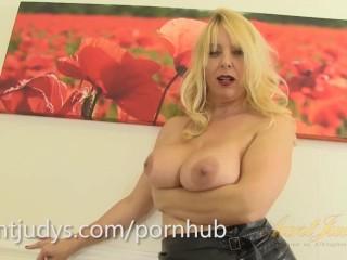 Sexy Mature Maid Lucinda Masturbates