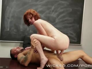 Wicked – Redhead milf loves cum