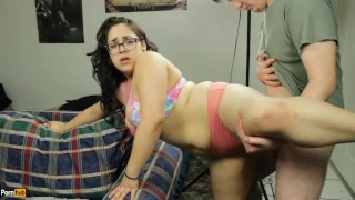Screen Capture of Video Titled:  Amateur Daisy Dabs fucked in see through panties