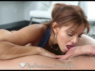 HD PureMature – Sexy latina Milf helps her man to relax