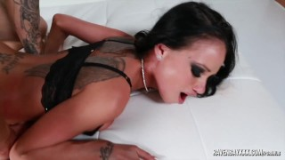 Screen Capture of Video Titled: Raven Bay is ass slapped and fucked