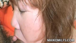 Kumiko Kaga - Plump JAV Mature Pussy Drilled And Creamed