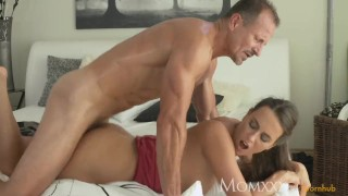 stepmom So horny & wet this milf devours his cock & makes him come twice