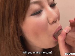 Hot Asian office bitch sucking the dick
