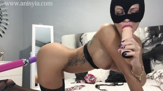 anisyia livejasmin extreme highheels stockings fuckmachine suck fetish