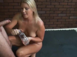 Erotic Cock Torture with a Feather