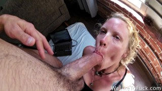 Screen Capture of Video Titled: She Won't Stop Until He Cums Three Times