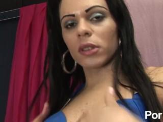 Sharon In A Hot Blue Dress – Scene 1