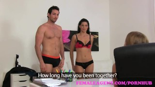 Screen Capture of Video Titled: FemaleAgent Sexy threesome with Spanish couple