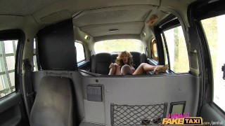 Screen Capture of Video Titled: FemaleFakeTaxi Sexy driver loves a hard cock