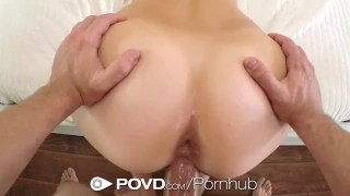 Screen Capture of Video Titled: POVD - Tiffany Dawson needs a hot summer cool down fuck