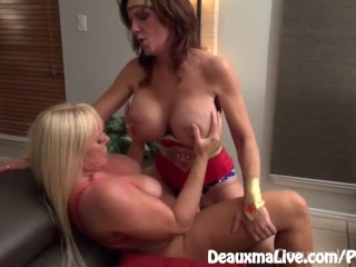Cosplay Milfs Deauxma & Alexis Fuck with Strapon!