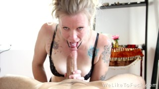 Screen Capture of Video Titled: Please Cum in My Mouth!