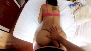 Screen Capture of Video Titled: Fucking my roomate after catching her masturbating - Diablo Entertainment