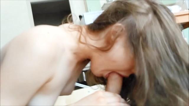 Blond Russisch Teen Blowjob