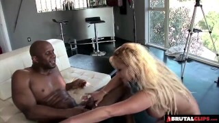 Screen Capture of Video Titled: BrutalClips - Big boobed Tyla uses her luscious body to make a sale