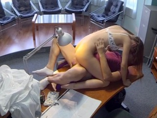 Babe Nurse Alexis Crystal Has An Office Fuck Fling With Her Doctor Boss