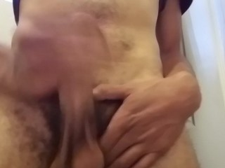 My Big Mixed Black Cock Jack Off Session #1
