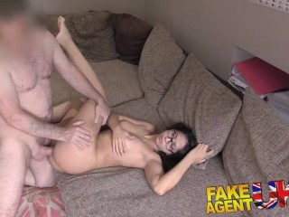 FakeAgentUK Hot Euro chick loves deepthroat pussy fucking and anal sex
