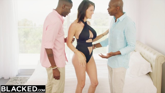 BLACKED Wife Peta Jensen Cheats with two Guys - Pornhub.com