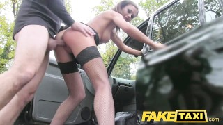 Screen Capture of Video Titled: Fake Taxi Hot posh lady seduces driver