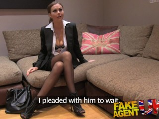 Fake Agent UK Euro babes peachy arse fingered and fucked in casting