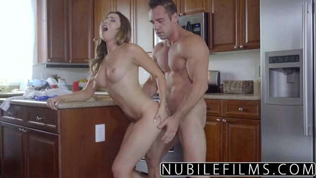 NubileFilms - Hot Daughter Fucks Moms Boyfriend