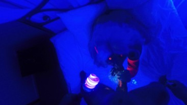 SecretCrush - Succubus POV Fucking & Blowjob Covers Ass In UV Body Paint