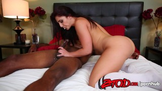 Screen Capture of Video Titled: Mischa Brooks Likes her Coffee Black and Full of Cum