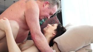 Old - Sweet innocent girlfriend gets fucked by grandpa