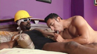 Construction worker with big black dick propositioned for sex